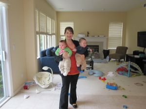 My first day back from maternity leave with the Twins