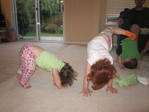"""My silly """"downward dogs"""""""